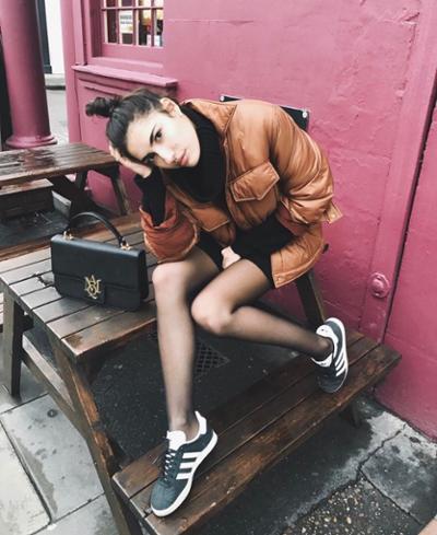 womens-fashion-photography-orange-black-leather-puffer-coats