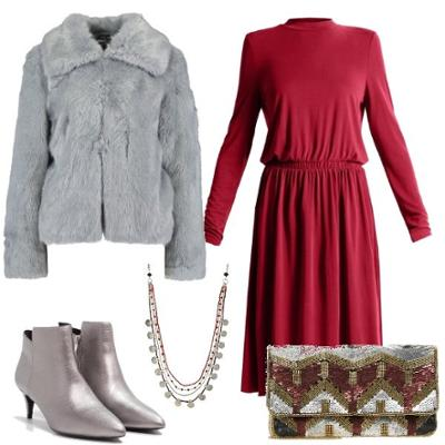 womens-fashion-outfit-red-silver-fur