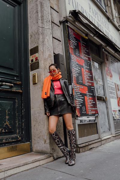 womens-fashion-ootd-orange-black