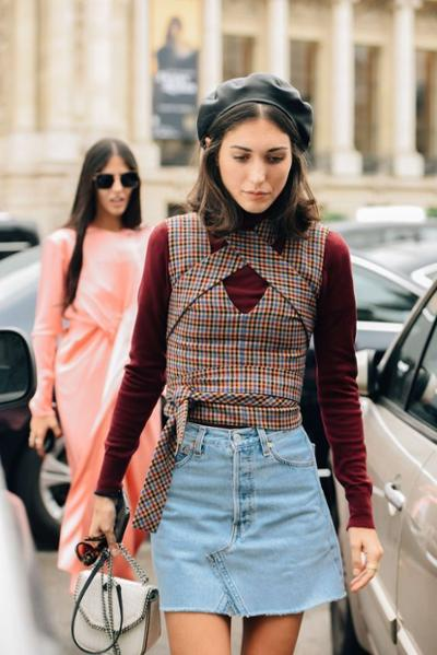 womens-fashion-ideas-denim-burgundy-plaid