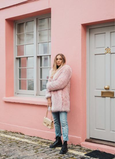 womens-fashion-ootd-denim-fur-chain-bags-fuzzy