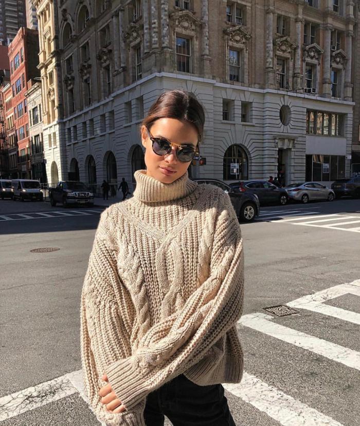 womens-fashion-look-black-beige-chic-sunglasses