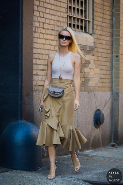 womens-fashion-inspiration-khaki-ruffles-chic-sunglasses-long-skirts