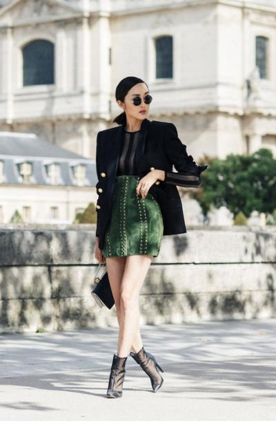 womens-fashion-outfit-green-black-masculine-chic-sunglasses