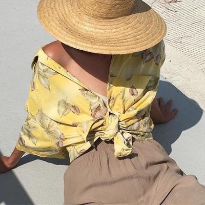 womens-fashion-look-yellow-fedora-hats-khaki-prints