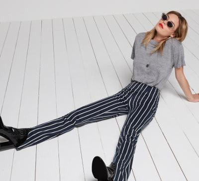 womens-fashion-ootd-black-grey-stripes-flared-pants
