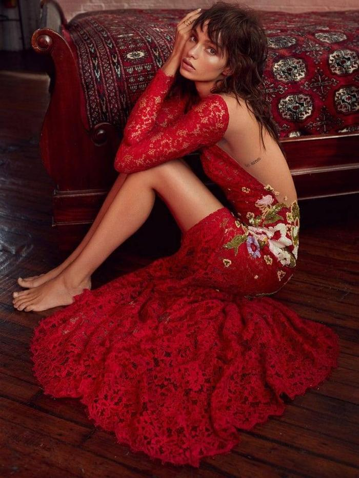 womens-fashion-ootd-florals-red-leather-embroidery
