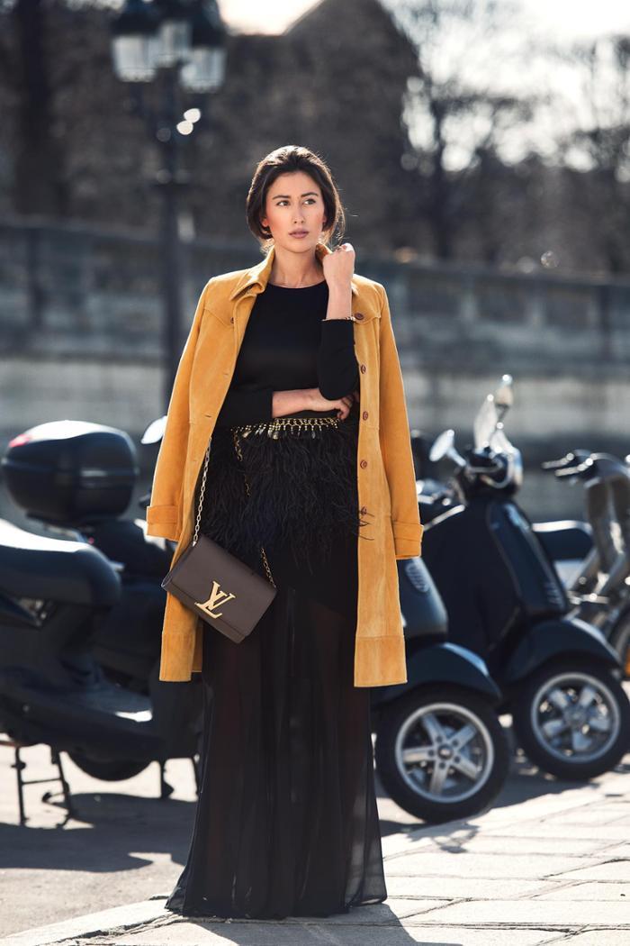 womens-fashion-ideas-light-coats-beige-camel-long-skirts