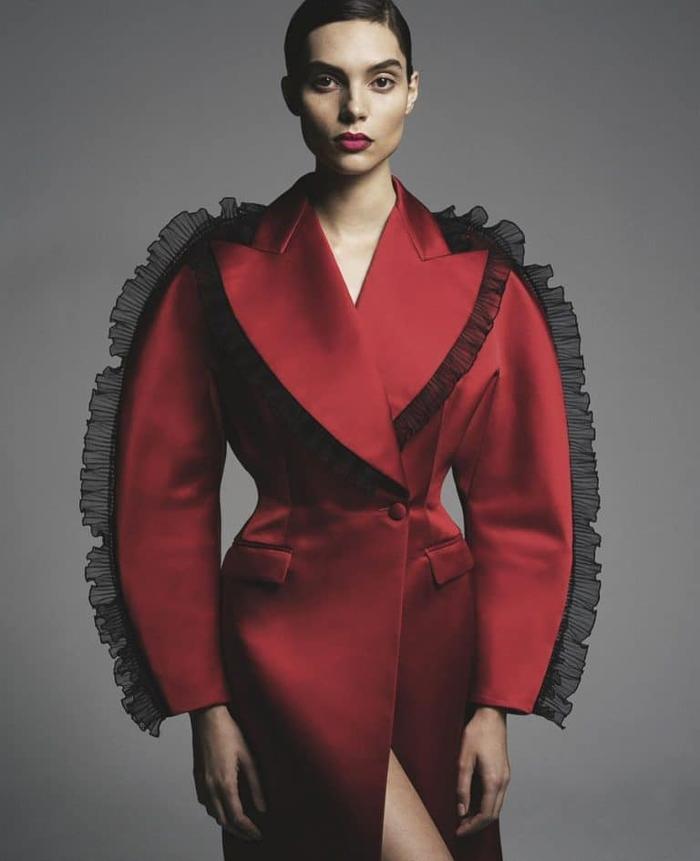 womens-fashion-photography-red-light-coats-ruffles