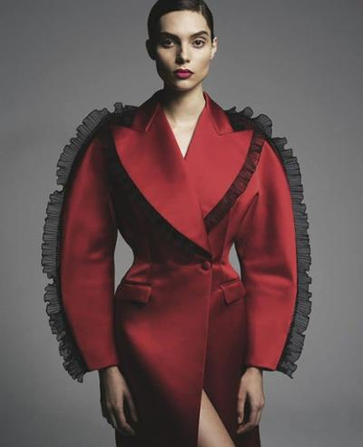 womens-fashion-outfit-red-light-coats-ruffles