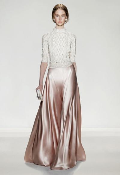 womens-fashion-ideas-pink-silk-and-satin-turtlenecks-long-skirts