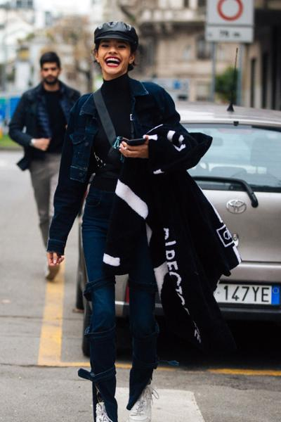 womens-fashion-ideas-denim-masculine-turtlenecks-skinny-pants