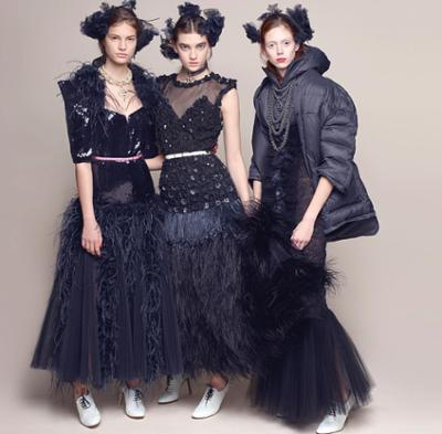 womens-fashion-look-fringe-sequins-black-and-white-puffer-coats
