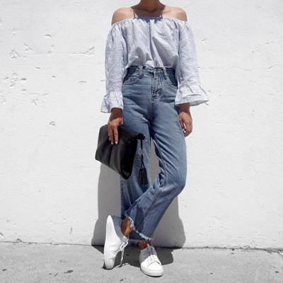 womens-fashion-inspiration-denim-strapless