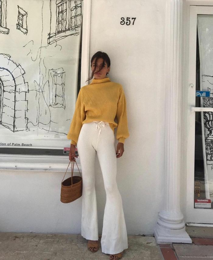 womens-fashion-inspiration-yellow-white-wool-turtlenecks
