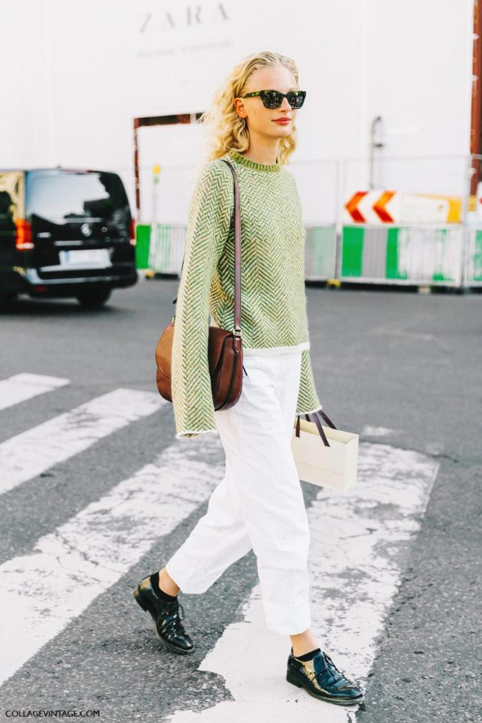 womens-fashion-ootd-green-white-wool