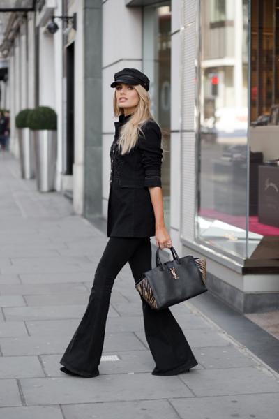 womens-fashion-ootd-animal-military-flared-pants-all-black
