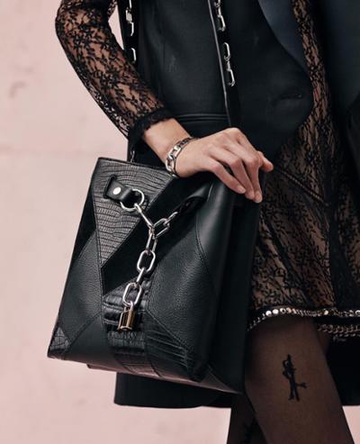 womens-fashion-inspiration-transparent-studs-chain-bags-all-black