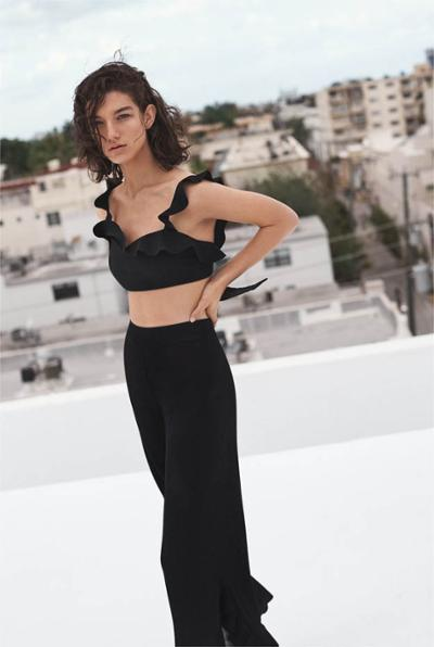 womens-fashion-inspiration-crop-tops-ruffles-all-black