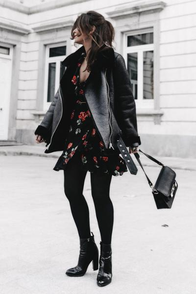 womens-fashion-inspiration-florals-motorcycle-all-black