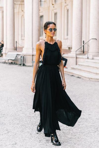 womens-fashion-look-all-black-long-skirts