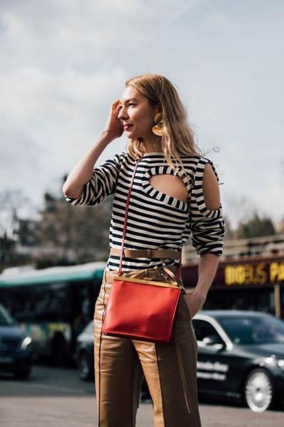 womens-fashion-inspiration-orange-big-jewelry-stripes