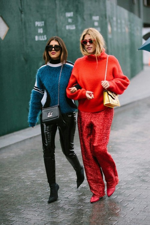 womens-fashion-inspiration-red-blue-leather-bright-colors