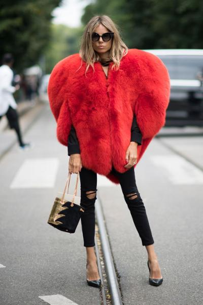 womens-fashion-photography-capes-and-ponchos-red-ripped-fur