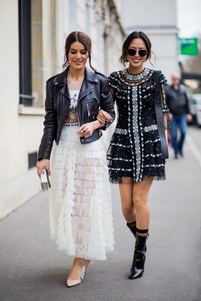 womens-fashion-outfit-transparent-ruffles-black-and-white-chic-sunglasses