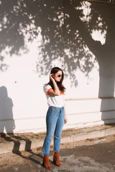 womens-fashion-ootd-orange-denim