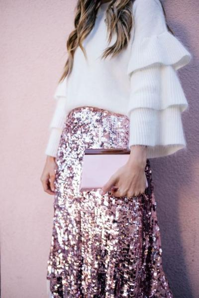 womens-style-inspiration-pink-sequins-ruffles
