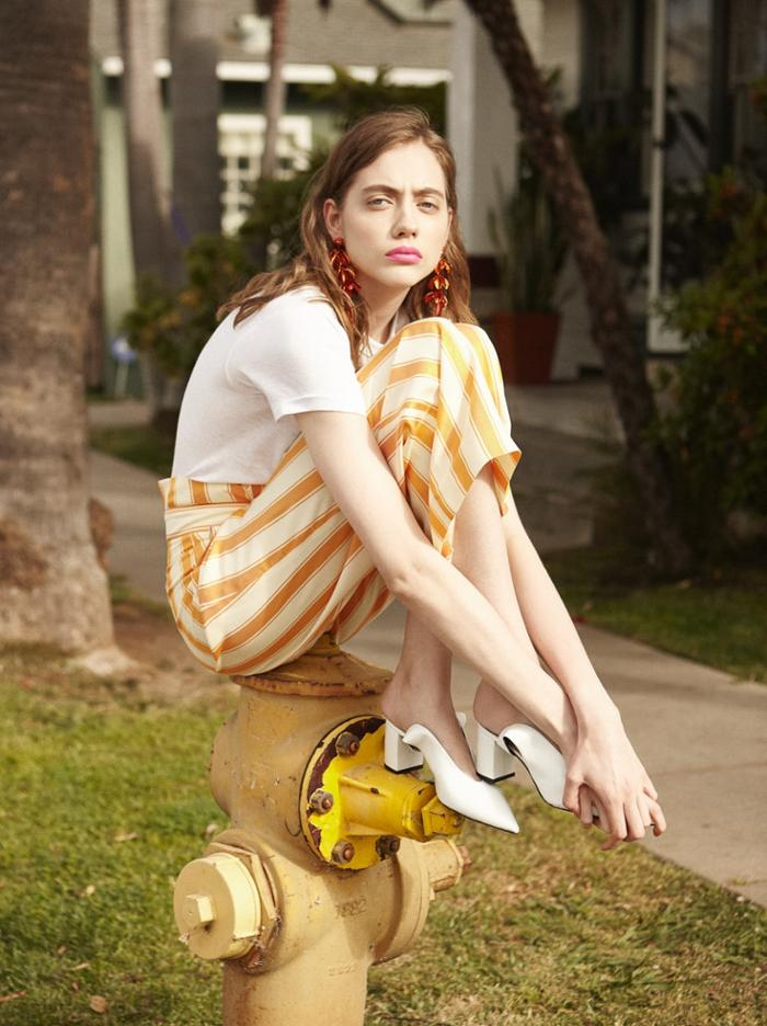 womens-fashion-outfit-yellow-white-stripes