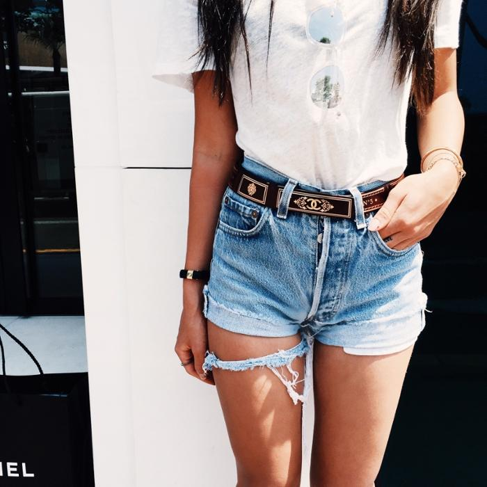 womens-fashion-look-gold-denim-ripped-wide-belts