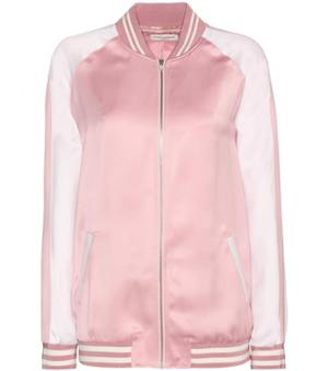 Women's jacket pink sportswear silk and satin from saint laurent ...