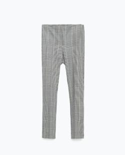de05581a Women's pants grey masculine culottes plaid from zara | Sassique