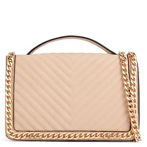 Women's shoulder bag gold beige chains chain bags from aldo | Sassique