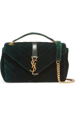 92e274c386a Women's shoulder bag green velvet from saint laurent | Sassique