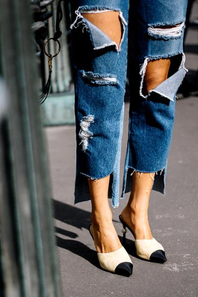 womens-fashion-ideas-black-denim-ripped-beige