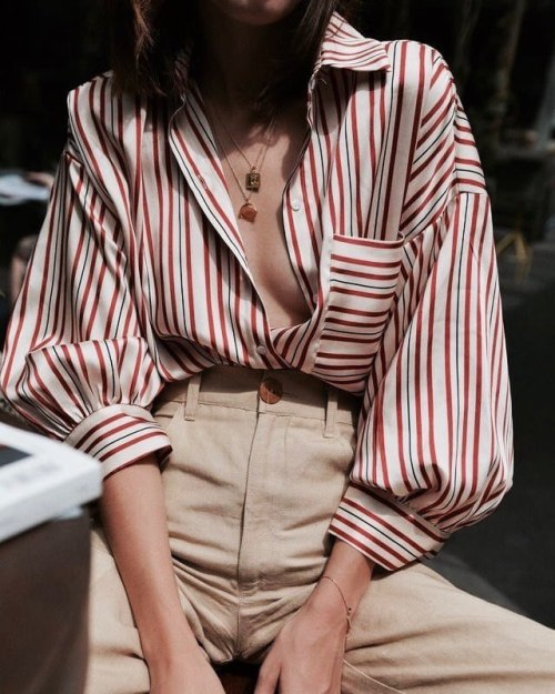 womens-fashion-ootd-beige-multicolor-stripes