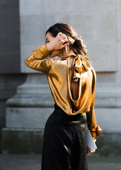 womens-fashion-outfit-black-gold-leather