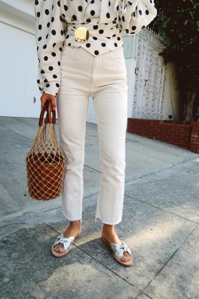 womens-style-inspiration-polka-dots-bright-colors-skinny-pants