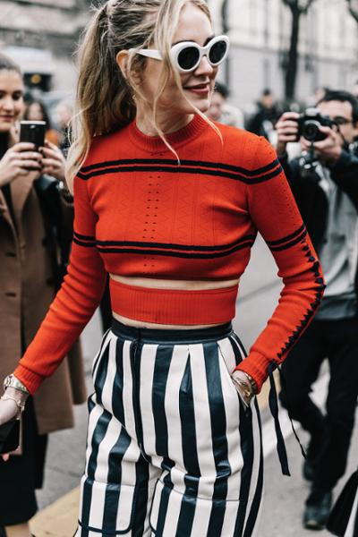 womens-style-inspiration-crop-tops-multicolor-stripes-chic-sunglasses