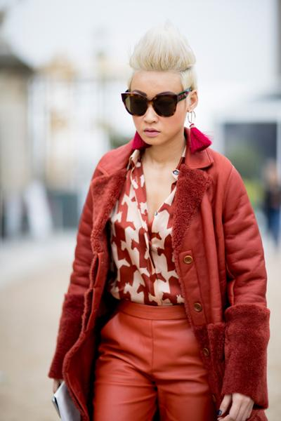 womens-fashion-outfit-red-leather-chic-sunglasses