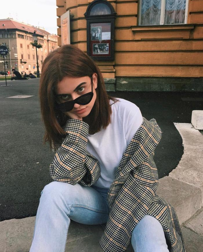 womens-fashion-ideas-white-denim-plaid-chic-sunglasses