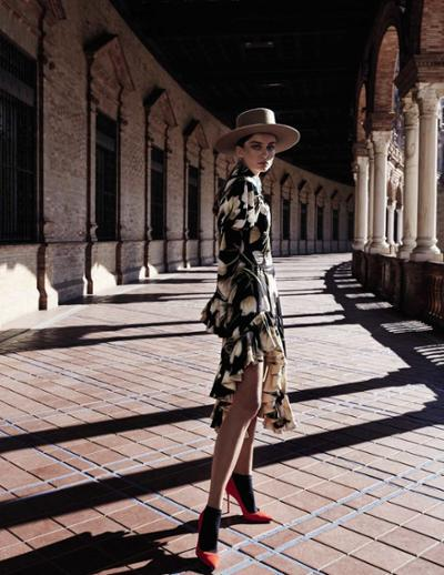 womens-fashion-outfit-florals-fedora-hats-ruffles