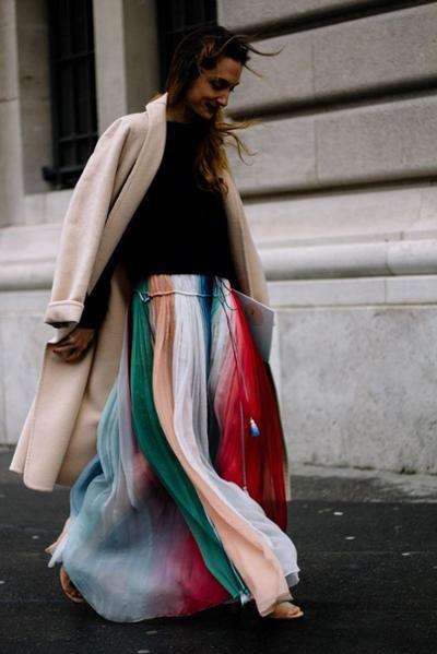 womens-fashion-inspiration-light-coats-multicolor-long-skirts