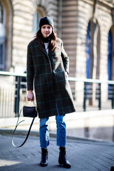 womens-fashion-inspiration-denim-light-coats-plaid-turtlenecks
