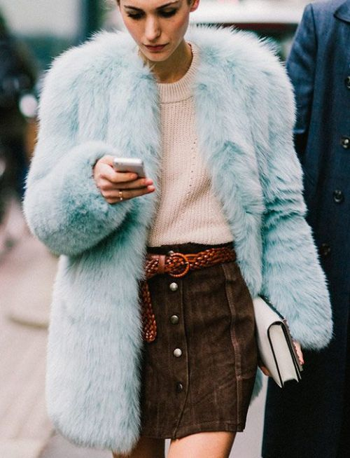 womens-fashion-outfit-pink-fur-turquoise-suede