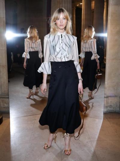 womens-fashion-ootd-silk-and-satin-ruffles-stripes